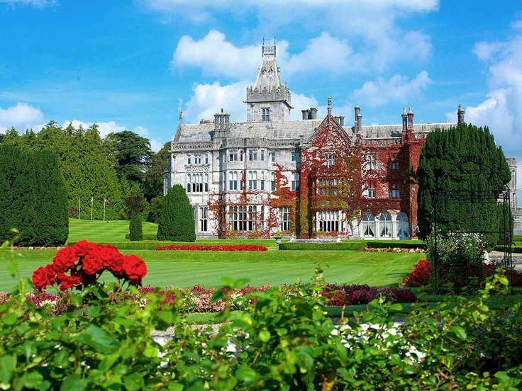 Adare Manor Hotel and Golf Resort   located in Limerick Ireland from Archery to Wine tasting! They have 840 acres to explore by bike, horse, car or foot! Feeling really crazy take a falconry lesson!