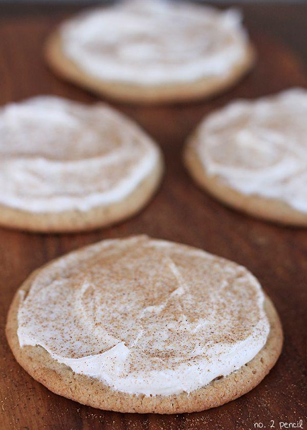 Pumpkin Spice Sugar Cookies with Pumpkin Spice Cream Cheese Frosting