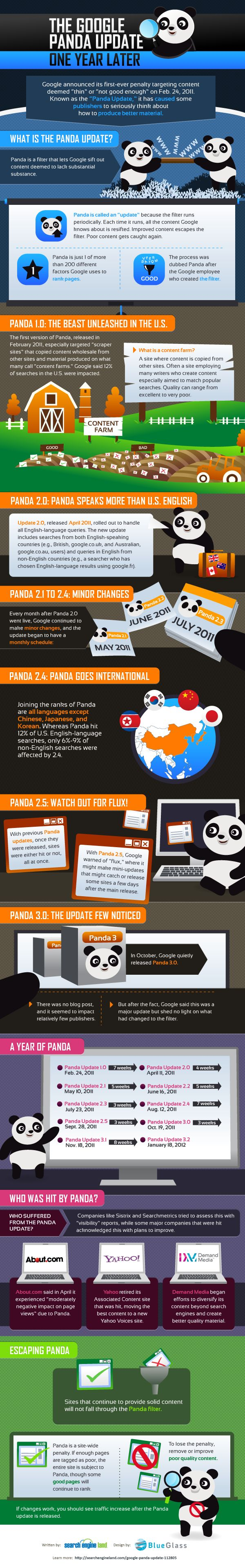 One year in with Google Panda