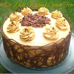 Dulce De Leche Whipped Cream Frosting by Ramya Cooks