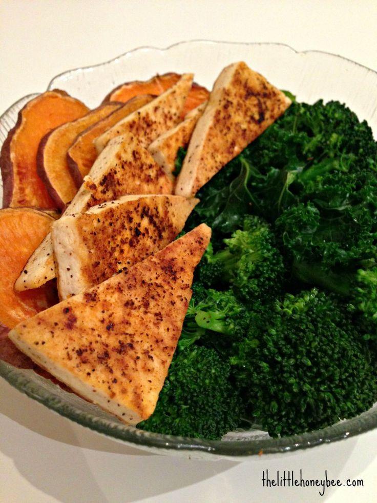 Crispy Tofu Bowl: roast sweet potato, lightly pan fried tofu, steamed ...