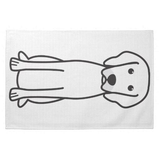 Rhodesian ridgeback dog cartoon hand towels