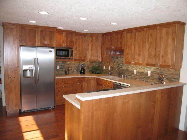 cabinets around refrigerator kitchen pinterest