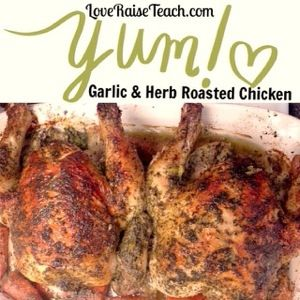 Garlic & Herb Oven Roasted Chicken! So easy and delicious!! www ...
