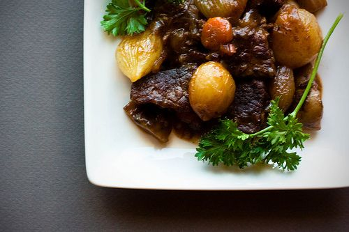 ... Bourguignon (Beef Stew in Red Wine, with Bacon, Onions and Mushrooms