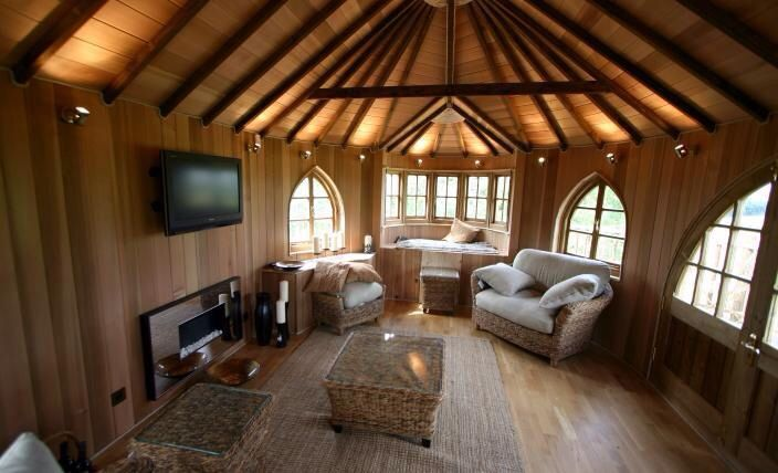 Inside Tree House Home Tree Pinterest