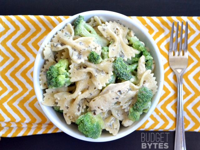 Creamy Pesto Pasta with Chicken & Broccoli - Budget Bytes Simple and ...