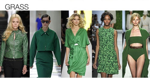Top color. Womens Spring 2012 trend report, grass