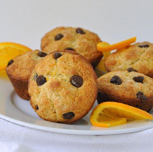 Orange Ricotta Chocolate Chip Muffins Recipe — Dishmaps