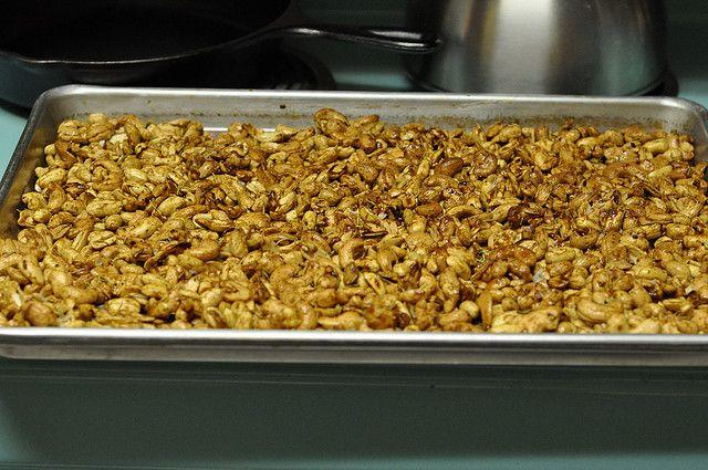 Maple-Rosemary Glazed Walnuts Recipe — Dishmaps