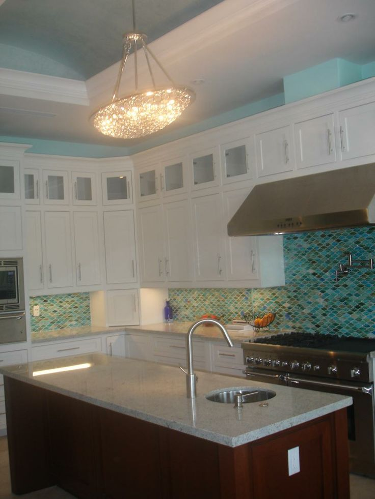 Coral Gables Kitchen (Cultivate com)with coral paint on walls and with
