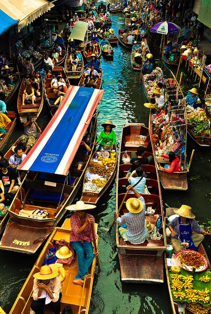 Damnoen Saduak  Bangkok  Pinterest