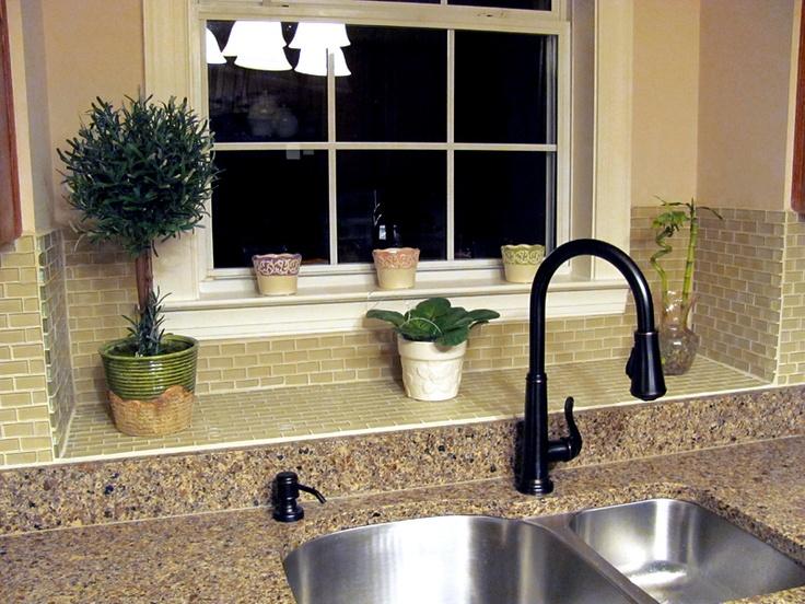 Almond Glass Subway Tile | Kitchen Ideas | Pinterest