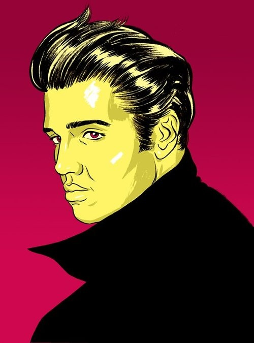 Elvis illustration by Alex Fine