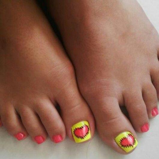Uñas decoradas de los pies | Pedicure | Pinterest
