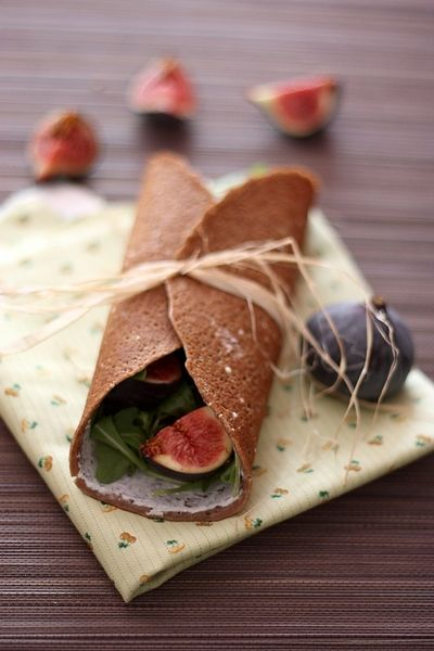 Buckwheat Crepe with Arugula and Figs | Fresh Goat Cheese ~ Recipes ...