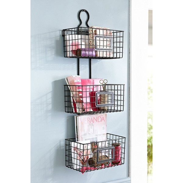 Simple Hanging Wire Baskets For Vertical Storage Is Such A Cute Way To