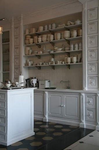 Picture shelves dreams : Open kitchen shelves organization