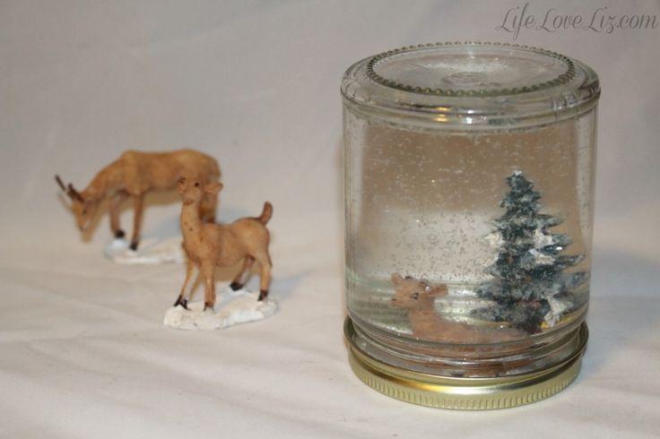 DIY Glitter Jam Jar Wedding Snow Globe Tutorial
