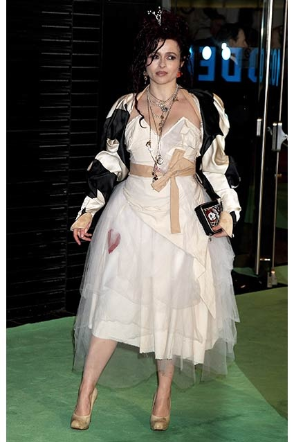 Her taffeta dress looked almost normal  ... until she brought out the jacket.