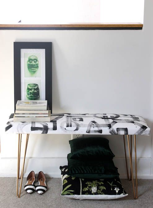 DIY Brushstroke Bench 5