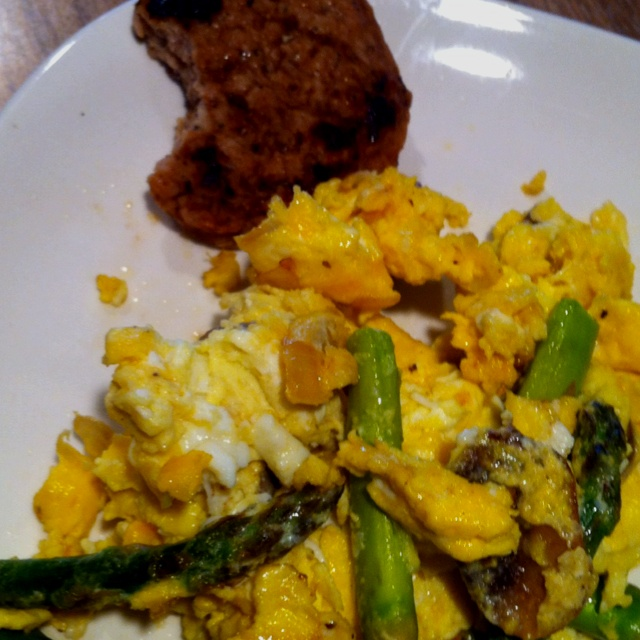 Mushroom, Asparagus And Swiss Scramble Recipes — Dishmaps