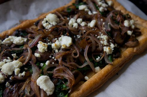 dinner mushroom + spinach + goat cheese, tarted