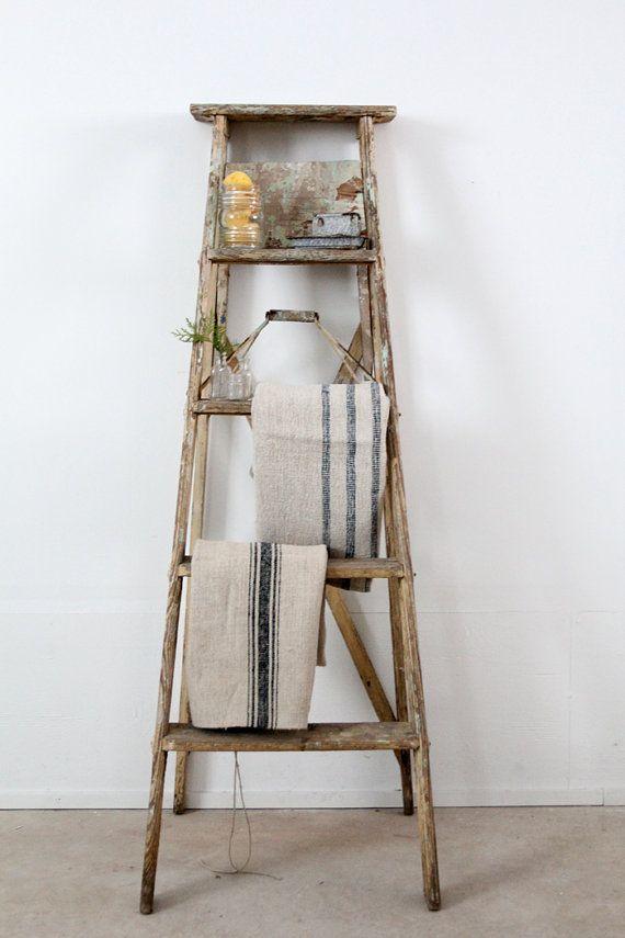 Vintage Wooden Ladder 117