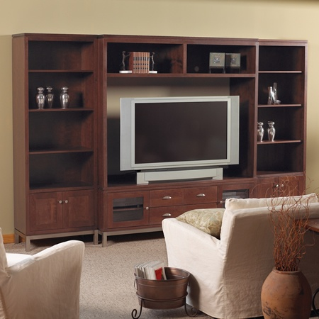 """ent center made in USA all wood!!   Spectrawood 132"""" wide 84"""" high  TV is 24"""" high"""