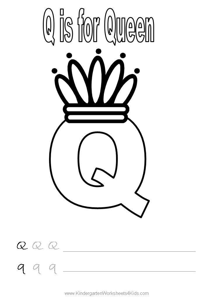 Alphabet worksheet - letter Q | Summer lesrning | Pinterest