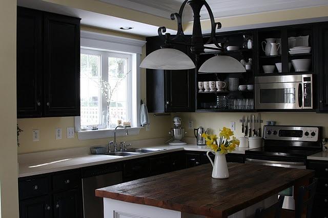 black white and yellow kitchen dream home ideas pinterest
