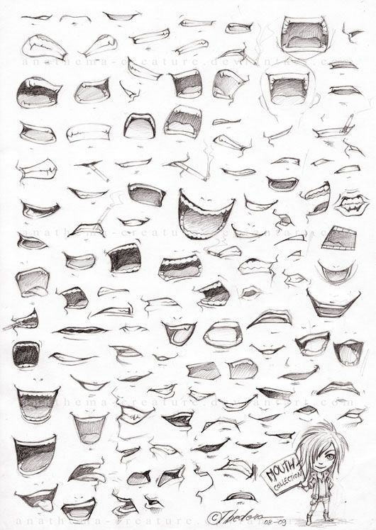 Mouth Drawing Reference Guide
