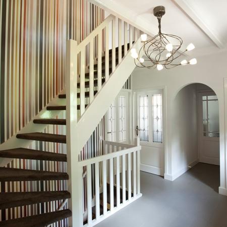 Behang in trappenhuis gang en trap pinterest - Behang voor trappenhuis ...