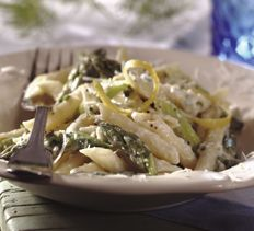 Pastas and Grains - Penne with Asparagus, Ricotta and Lemon
