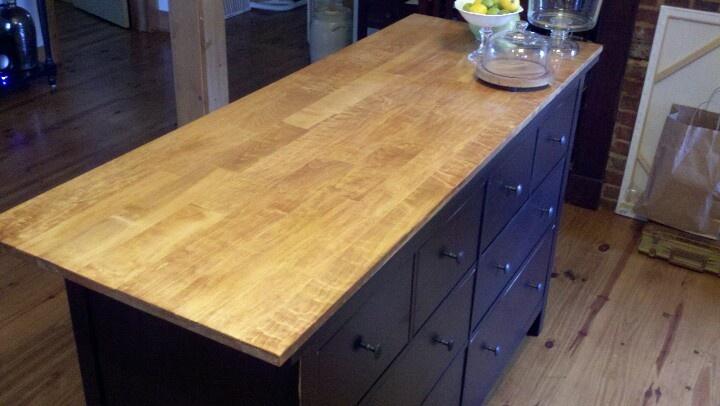Ikea Mandal Storage Bed Review ~ Ikea dresser to kitchen island  Home Organization  Pinterest