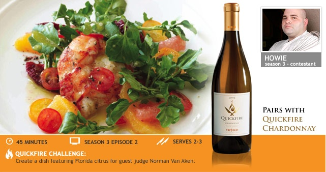 ... Butter-Poached Lobster with Watercress-Citrus Salad | Quickfire Wines