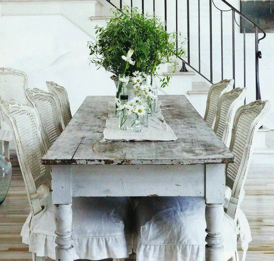Shabby chic dining room white shabby pinterest - Shabby chic dining rooms ...