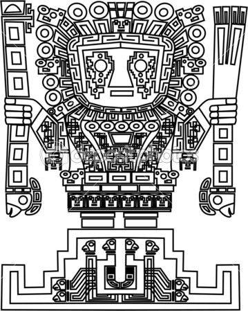 Vector mayan and inca tribal symbolsMayan Symbols Vector