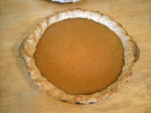 Gluten Free Pumpkin Pie (crust and filling) Recipe by KRAVMAGAGIRL