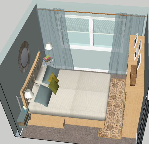 Small i mean really small master bedroom for the home for Very small bedroom