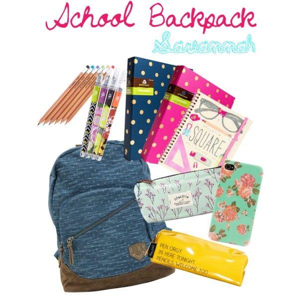 School backpack essentials