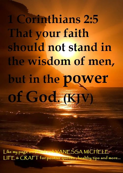 Bible verses kjv about faith 1 corinthians 2 5 kjv power