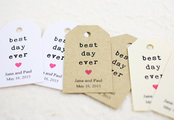 5 Best Wedding Gifts Ever : Wedding Favor Tags, Personalized Favor Tags, Best Day Ever, Bridal ...
