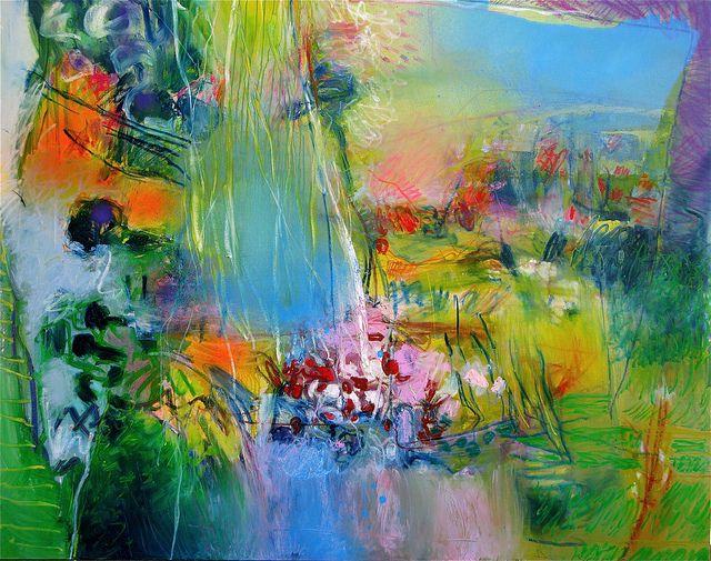 """Stricher Gerard ~ """"Nature et Comedie"""". Mixed techniques on canvas, 2010"""