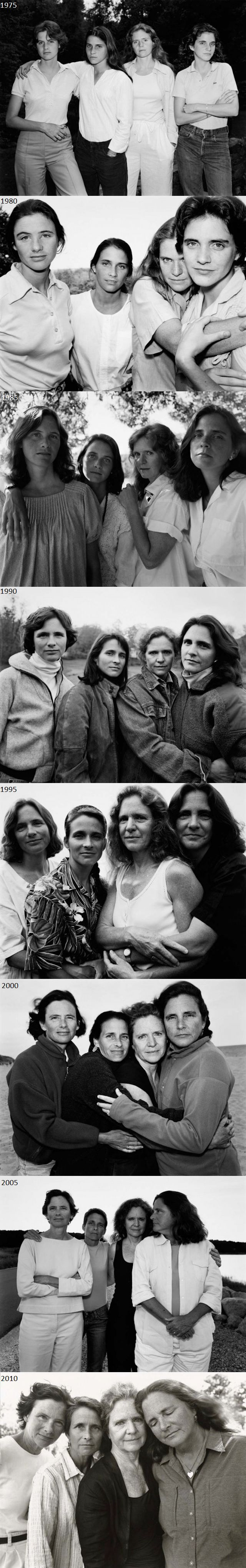 3. These 5 sisters take photo every year from 1975 to 2010 and the result was amazing.