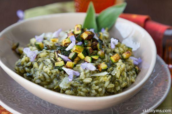 Risotto with Broccoli Rabe, Ricotta & Toasted Zucchini #risottorecipe