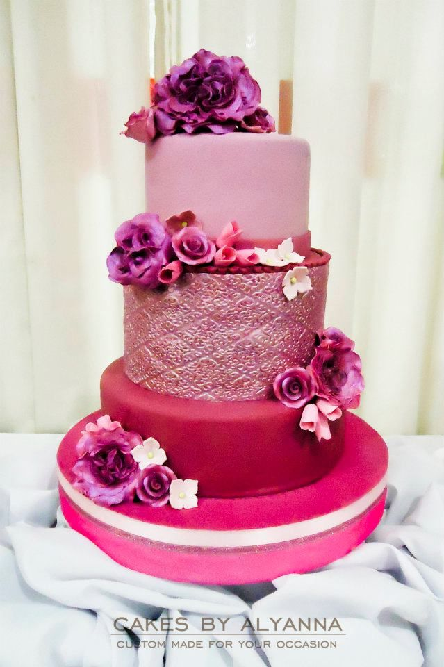 Hot Pink Cake Images : Pink Wedding Cake #hot #pink #cake Cakes & Cupcakes ...