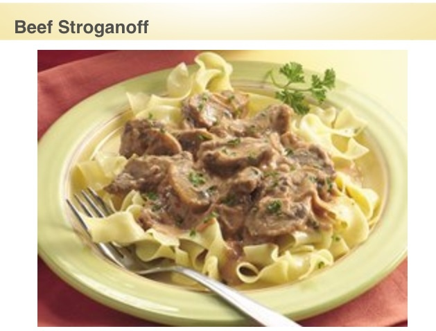 beef stroganoff with peppered spaetzle mustard and peppered beef ...