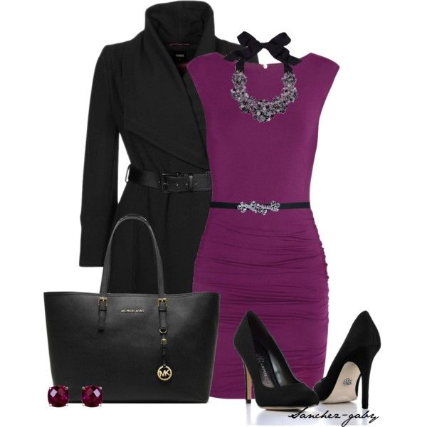 """radiant orchid"" by sanchez-gaby on Polyvore"