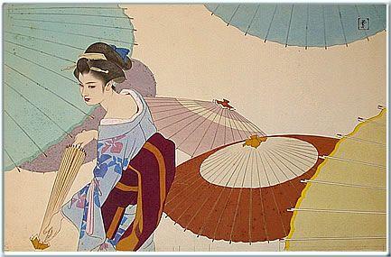 志村立美 番傘と女 1960年 E ArtsForward志村立美 番傘と女 1960年See